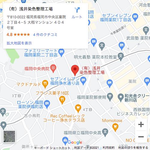 (有)浅井染色整理工場のマップ