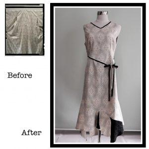 紬からドレスへ